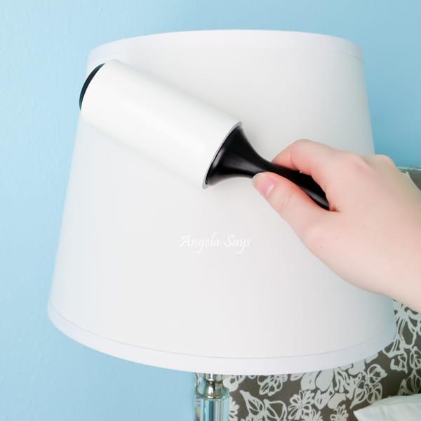 Limpiar una pantalla de lámpara