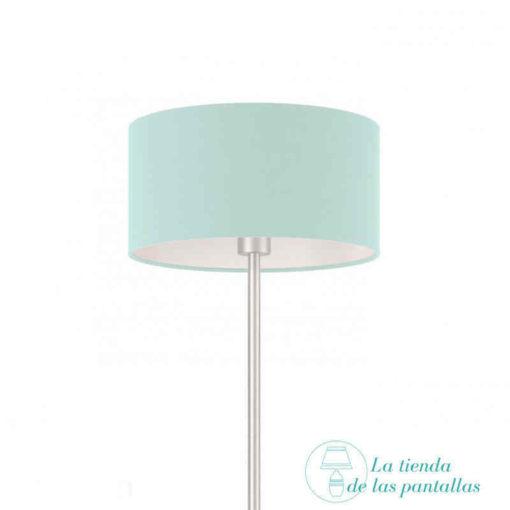 pantalla lampara cilindrica azul celeste