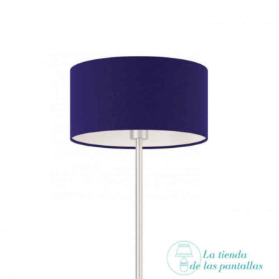 pantalla lampara cilindrica azul oscuro