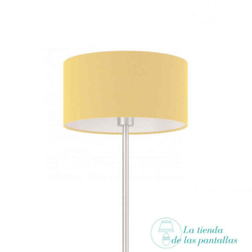 pantalla lampara cilindrica beige