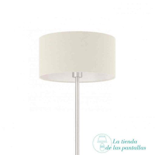 pantalla lampara cilindrica blanca