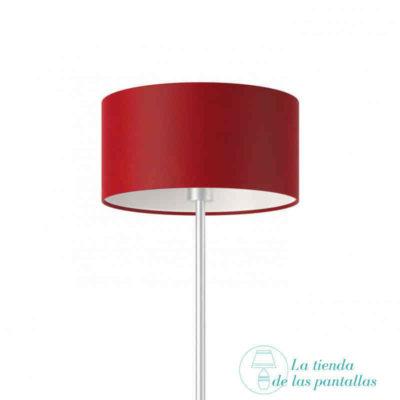 pantalla lampara cilindrica burdeos