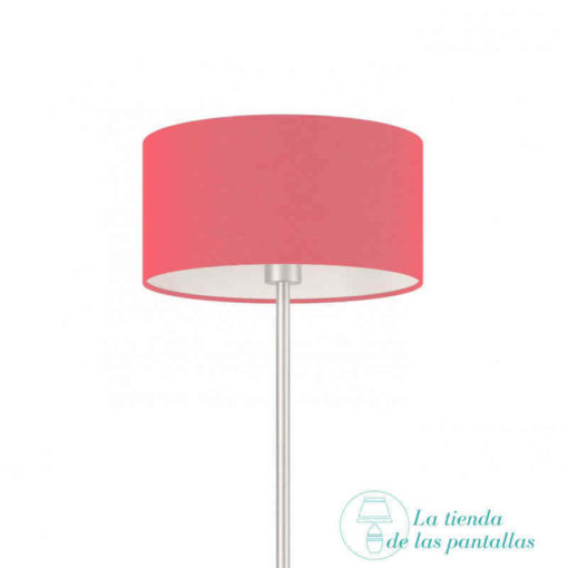 pantalla lampara cilindrica fucsia