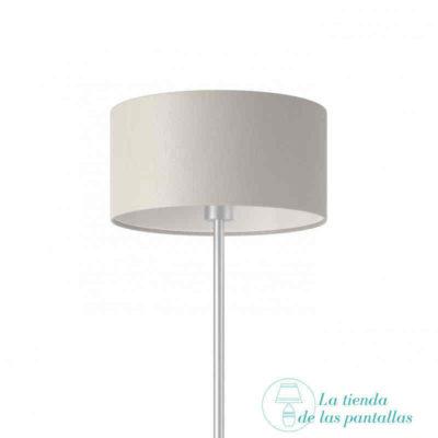 pantalla lampara cilindrica lino blanco