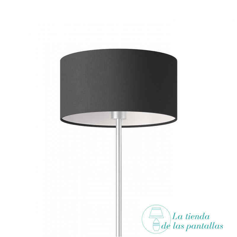 pantalla lampara cilindrica lino negro