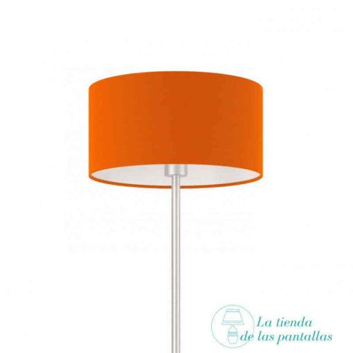 pantalla lampara cilindrica naranja