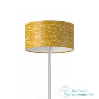 pantalla lampara cilindrica oro