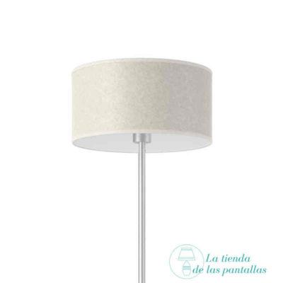 pantalla lampara cilindrica pergamino claro