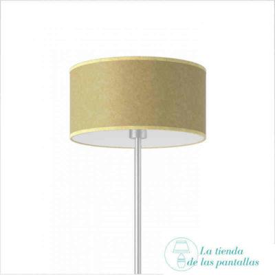 pantalla lampara cilindrica pergamino oscuro