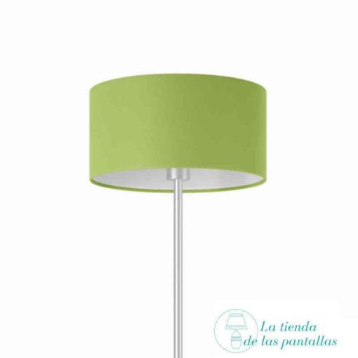 pantalla lampara cilindrica pistacho