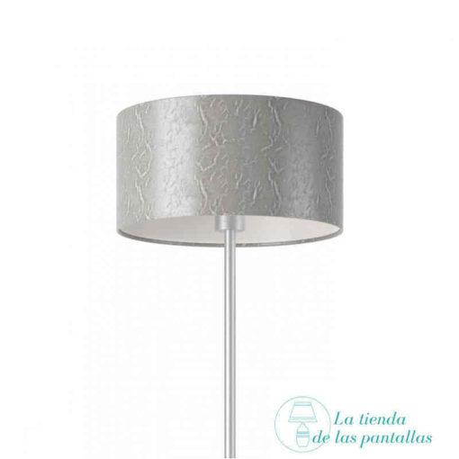 pantalla lampara cilindrica plata