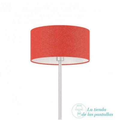 pantalla lampara cilindrica roja