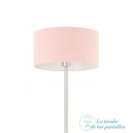 pantalla lampara cilindrica rosa