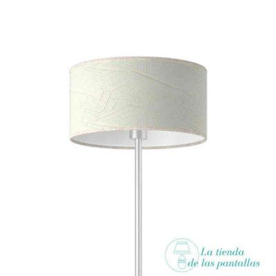 Pantalla de lámpara cilíndrica rugoso blanco