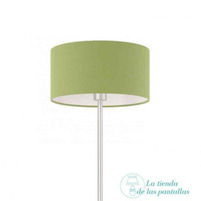Pantalla de lámpara cilíndrica verde oliva