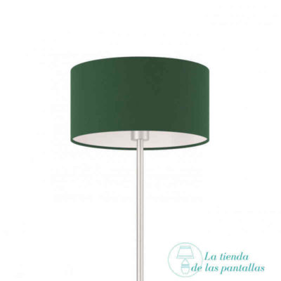 pantalla lampara cilindrica verde oscuro