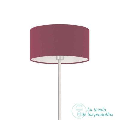 pantalla lampara cilindrica violeta