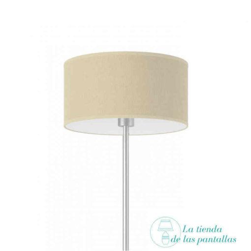 pantalla lampara cilindrica yute crudo