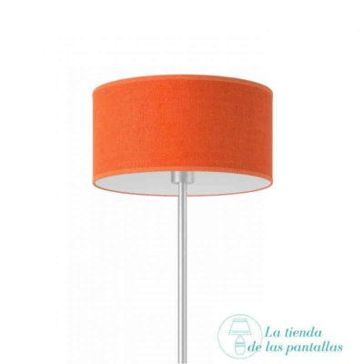 pantalla lampara cilindrica yute naranja