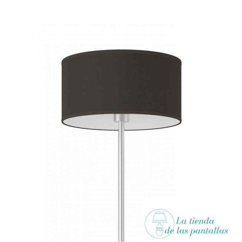 pantalla lampara cilindrica yute negro