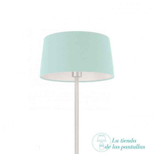 pantalla lampara conica azul celeste