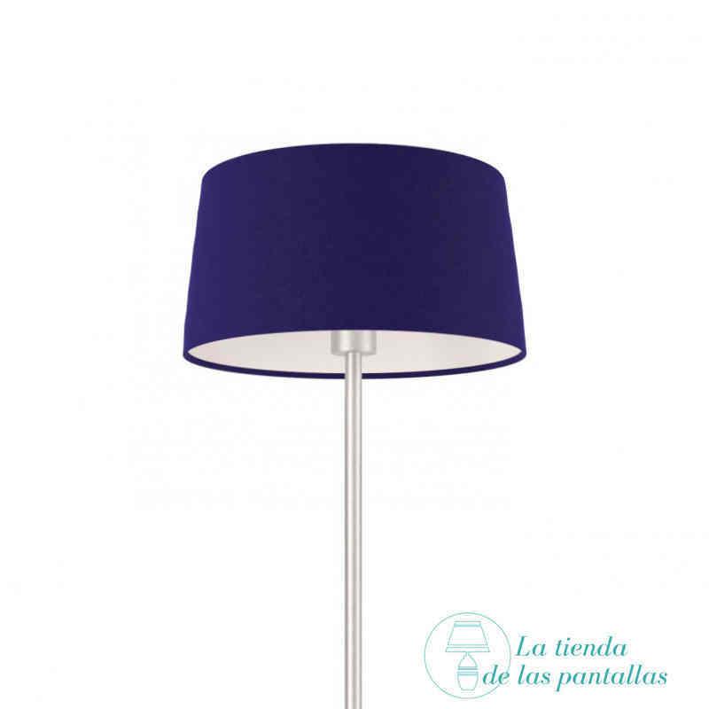 pantalla lampara conica azul oscuro