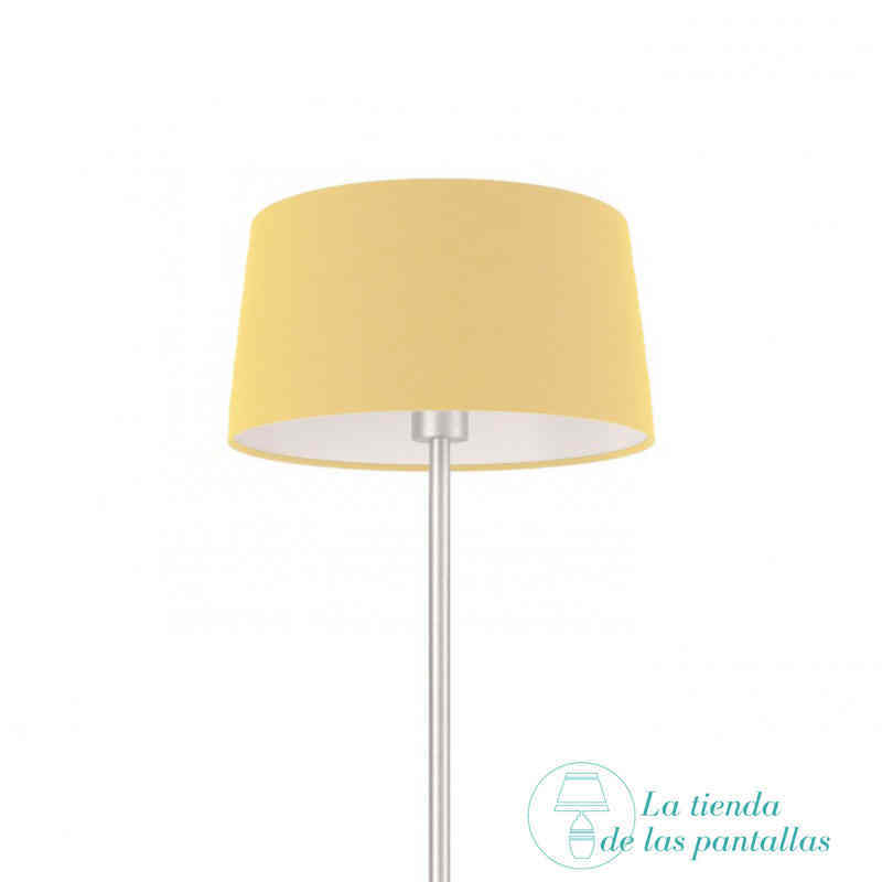 pantalla lampara conica beige