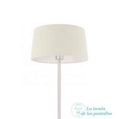 pantalla lampara conica blanca
