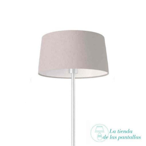pantalla lampara conica gris