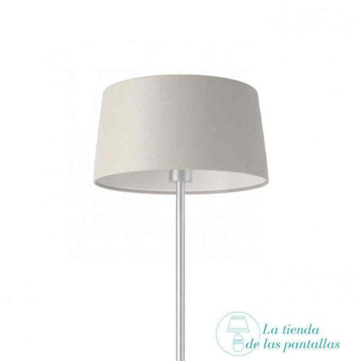 pantalla lampara conica lino blanco