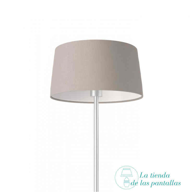 pantalla lampara conica lino gris