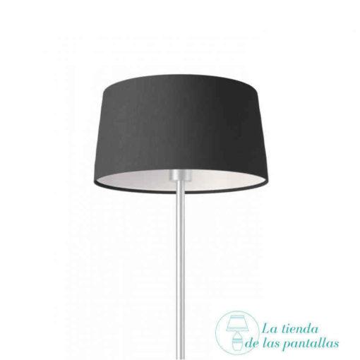 pantalla lampara conica lino negro