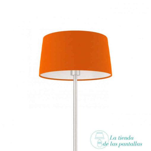 pantalla lampara conica naranja