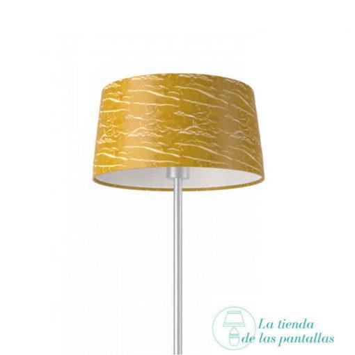 pantalla lampara conica oro