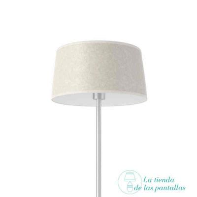 pantalla lampara conica pergamino claro