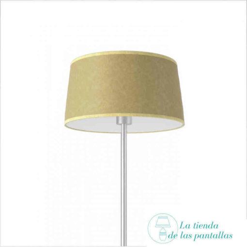 pantalla lampara conica pergamino oscuro