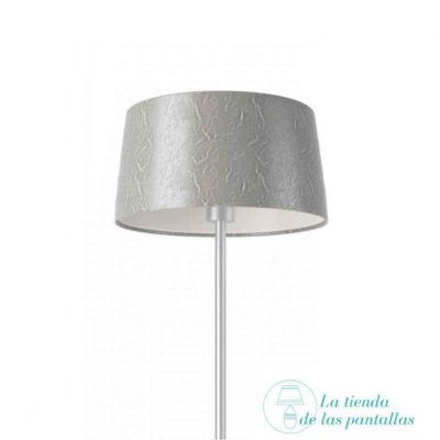 pantalla lampara conica plata