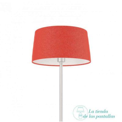 pantalla lampara conica roja