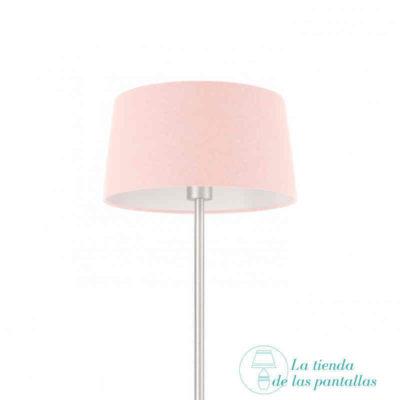 pantalla lampara conica rosa