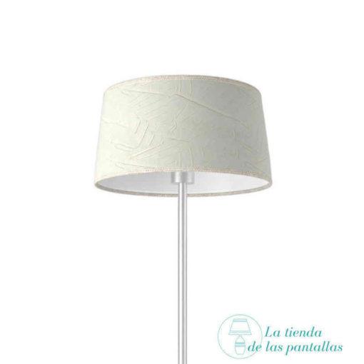 pantalla lampara conica rugoso blanco