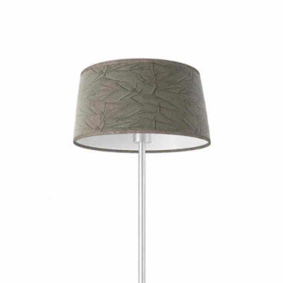 pantalla lampara conica rugoso ceniza