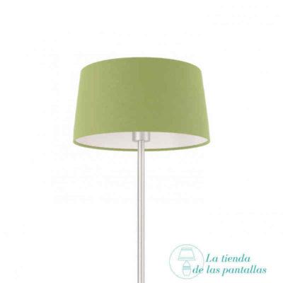 pantalla lampara conica verde oliva