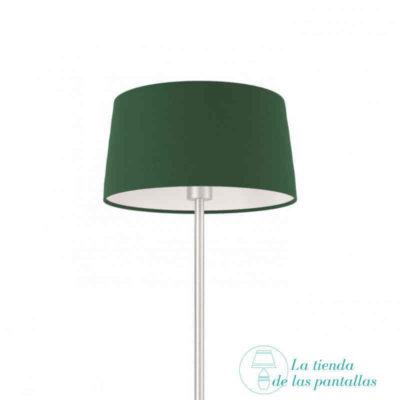 pantalla lampara conica verde oscuro