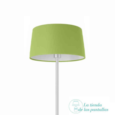 pantalla lampara conica verde pistacho