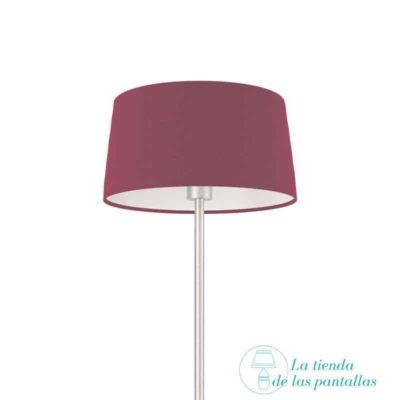 pantalla lampara conica violeta