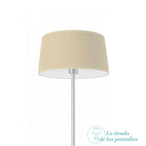 pantalla lampara conica yute crudo