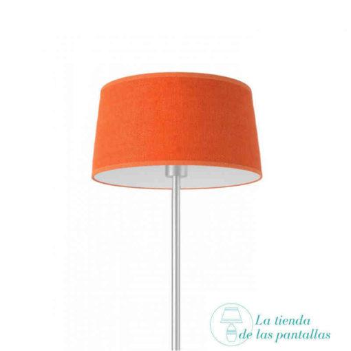 pantalla lampara conica yute naranja