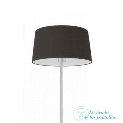 pantalla lampara conica yute negro