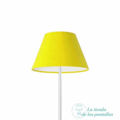pantalla para lamparas empire amarilla