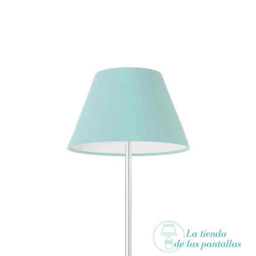 pantalla lampara empire azul celeste